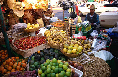 Mexico Photograph - Fruit Stall At A Market In San Angel by Rick Gerharter