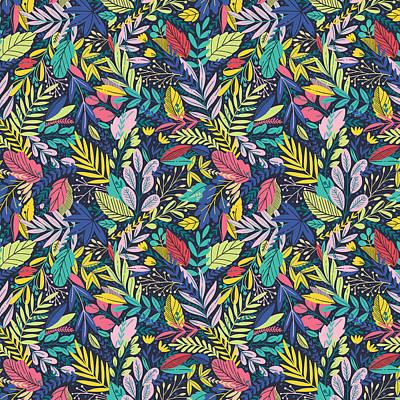 Wall Art - Digital Art - Fruit Tea Florals - Blackberry by Amanda Lakey