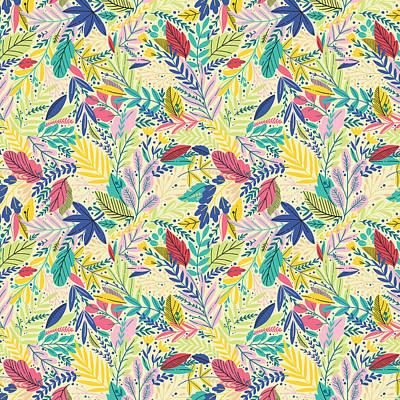 Wall Art - Digital Art - Fruit Tea Florals - Lemon by Amanda Lakey