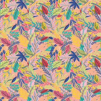Wall Art - Digital Art - Fruit Tea Florals - Nectarine by Amanda Lakey