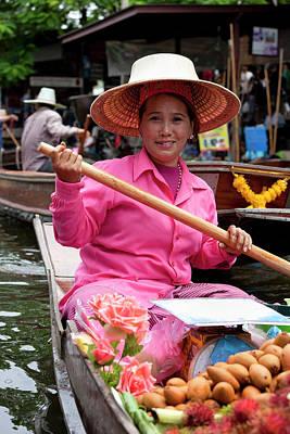 Photograph - Fruit Vendor At Damnoen Saduak Floating by Enviromantic