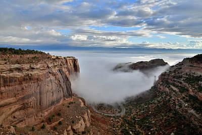 Photograph - Fruita Canyon Fog by Ray Mathis
