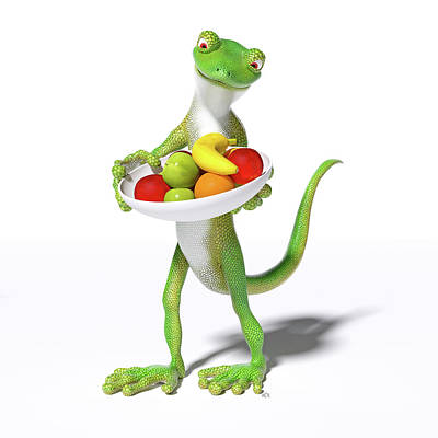 Sean Rights Managed Images - Fruitful Gecko Royalty-Free Image by Betsy Knapp