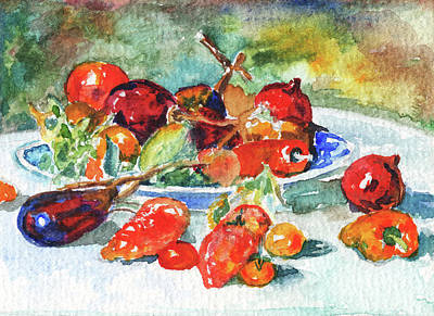 Painting - Fruits Of Midi Renoir Still Life Study by Irina Sztukowski