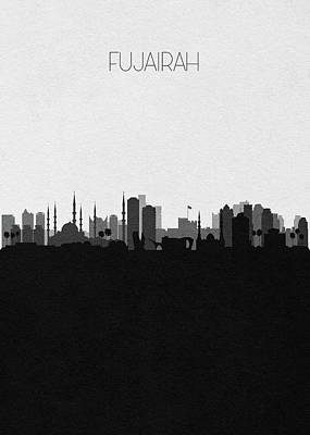 Digital Art - Fujairah Cityscape Art by Inspirowl Design