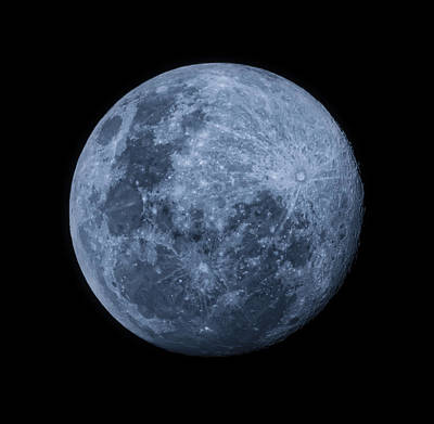 Photograph - Full Blue Moon by Werner Kaffl
