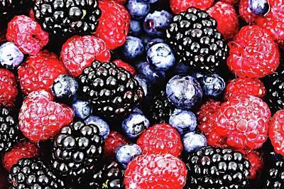 Full Frame Shot Of Fresh Fruits Art Print by Piergiuseppe Corvino / Eyeem