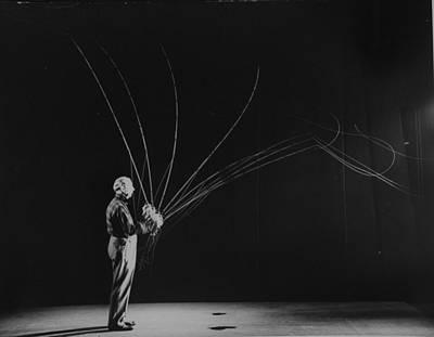 Photograph - Full-length Stroboscopic Image Of Uniden by Gjon Mili