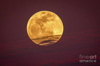 Photograph - Full Moon Above Clouds by Tom Claud