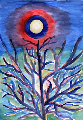 Painting - Full Moon Abstraction by Irina Dobrotsvet