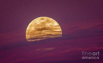 Photograph - Full Moon And Clouds by Tom Claud