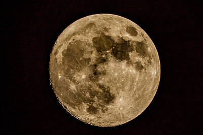 Photograph - Full Moon At 600mm by Jack Peterson