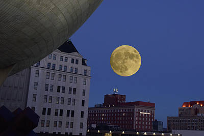 Photograph - Full Moon At The Plaza by Jeffrey PERKINS