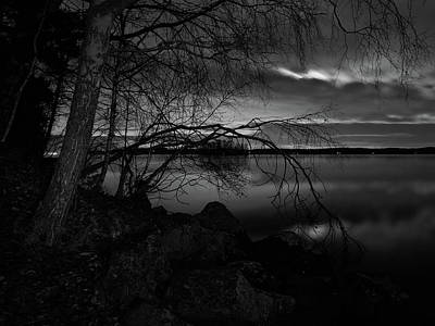 Jouko Lehto Royalty-Free and Rights-Managed Images - Full moon behind the clouds by Jouko Lehto
