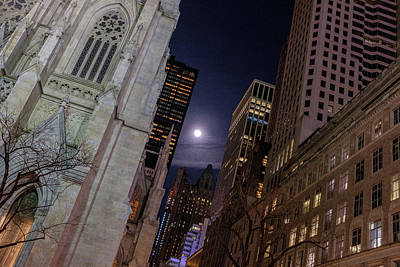 Photograph - Full Moon In Nyc by Doug Ash