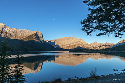 Photograph - Full Moon Over Upper Kananaskis Lake by Tim Kathka