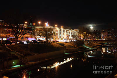 Photograph - Full Moon Rising On The Plaza by Jean Hutchison