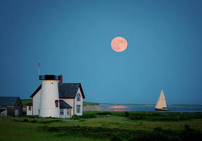 Photograph - Full Moon Sail by Betty Wiley