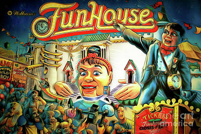 Photograph - Fun House Pinball Machine Arcade Nostalgia 20181223 by Wingsdomain Art and Photography