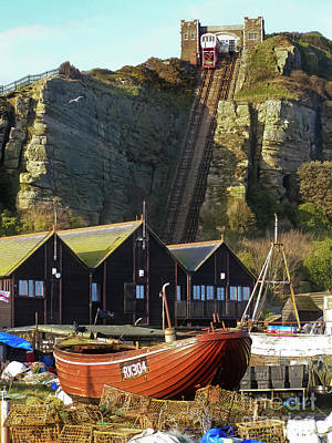 Photograph - Funicular Railway East Cliff Hastings by Terri Waters