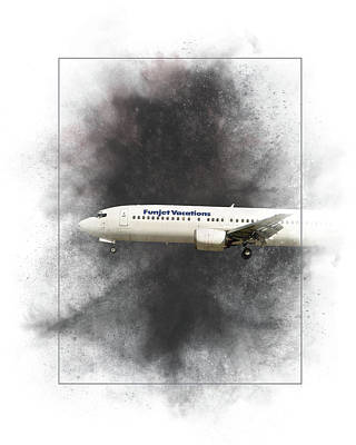 Mixed Media - Funjet Vacations Boeing 737-400 Painting by Smart Aviation