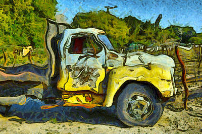 Photograph - Funky Cellars Wine Truck by Floyd Snyder
