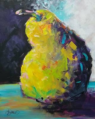 Painting - Funky Pear by Terri Einer