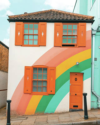 Photograph - Funky Rainbow House by Gabor Estefan