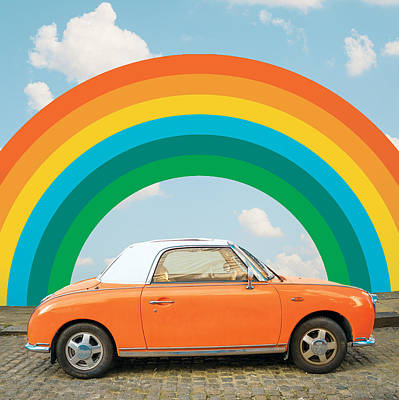 Digital Art - Funky Rainbow Ride by Gabor Estefan