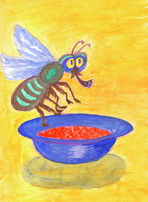 Painting - Funny Fly by Irina Dobrotsvet