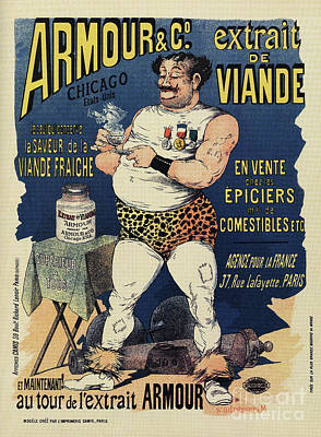 Drawing - Funny Vintage Meat Extract Advertising by Aapshop