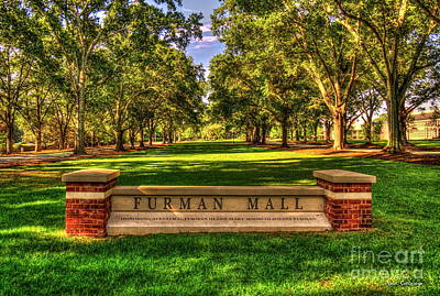 Furman Photograph - Furman Mall Furman University Greenville South Carolina Art by Reid Callaway