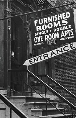 Furnished Rooms Art Print by Fred W. McDarrah
