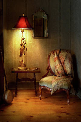 Photograph - Furniture - Chair - Great Granny's Old Chair by Mike Savad
