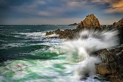 Photograph - Fury Of Casco Bay by Rick Berk