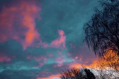 Photograph - Futuristic Sunset Natural Background by Marina Usmanskaya