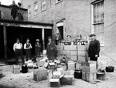 Photograph - G-men Seize Liquor Cache 1922 During Prohibition by Doc Braham