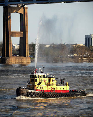 Photograph - G. Shelby Friedrichs Tugboat At New Orleans by Bill Swartwout Photography