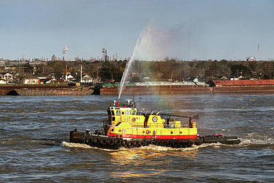 Photograph - G. Shelby Friedrichs Tugboat On The Mississippi by Bill Swartwout Fine Art Photography