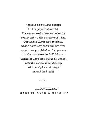 Mixed Media Rights Managed Images - Gabriel Garcia Marquez Quote 01 - Typewriter - Minimal, Modern, Classy, Sophisticated Art Prints Royalty-Free Image by Studio Grafiikka
