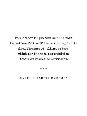 Mixed Media Rights Managed Images - Gabriel Garcia Marquez Quote 02 - Typewriter - Minimal, Modern, Classy, Sophisticated Art Prints Royalty-Free Image by Studio Grafiikka