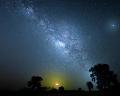 Photograph - Galactic Moon by Mark Andrew Thomas
