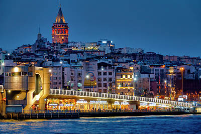 Photograph - Galata Bridge And Karakoy by Fabrizio Troiani