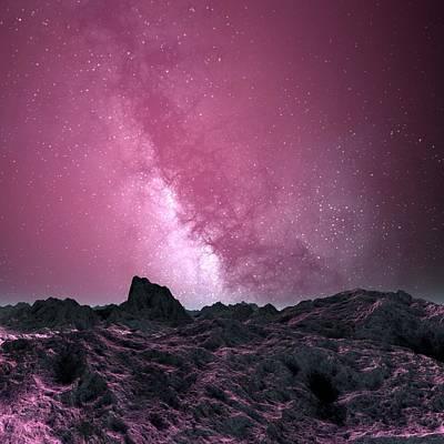 Digital Art - Galaxy Seen From An Alien Planet by Mehau Kulyk
