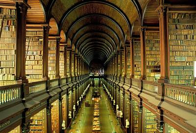 Indoors Photograph - Gallery Of The Old Library, Trinity by Bruno Barbier / Robertharding