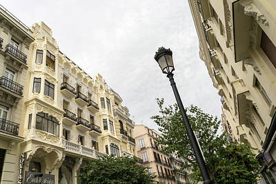 Photograph - Gallivanting Around Madrid Is A Pure Delight - Calle Mayor Facades by Georgia Mizuleva