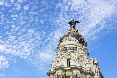 Photograph - Gallivanting Around Madrid Is A Pure Delight - Iconic Metropolis Building by Georgia Mizuleva