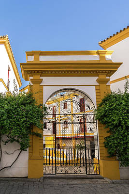 Photograph - Gallivanting Around Seville Is Pure Charm - Andalusian Filigree Portal by Georgia Mizuleva