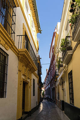 Photograph - Gallivanting Around Seville Is Pure Charm - Houses In Andalusian Yellow by Georgia Mizuleva