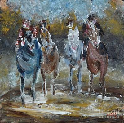 Painting - Galloping Horses by Corina Hogan